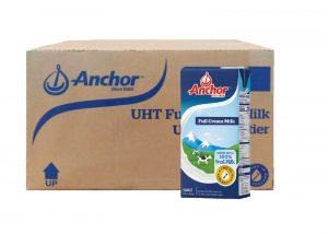 Anchor Uht Full Cream Milk 12 x 1L