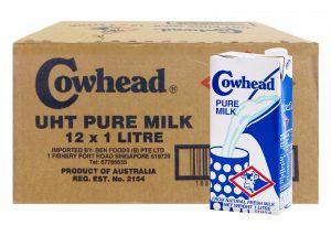 Cowhead UHT Pure Milk 12 x 1L