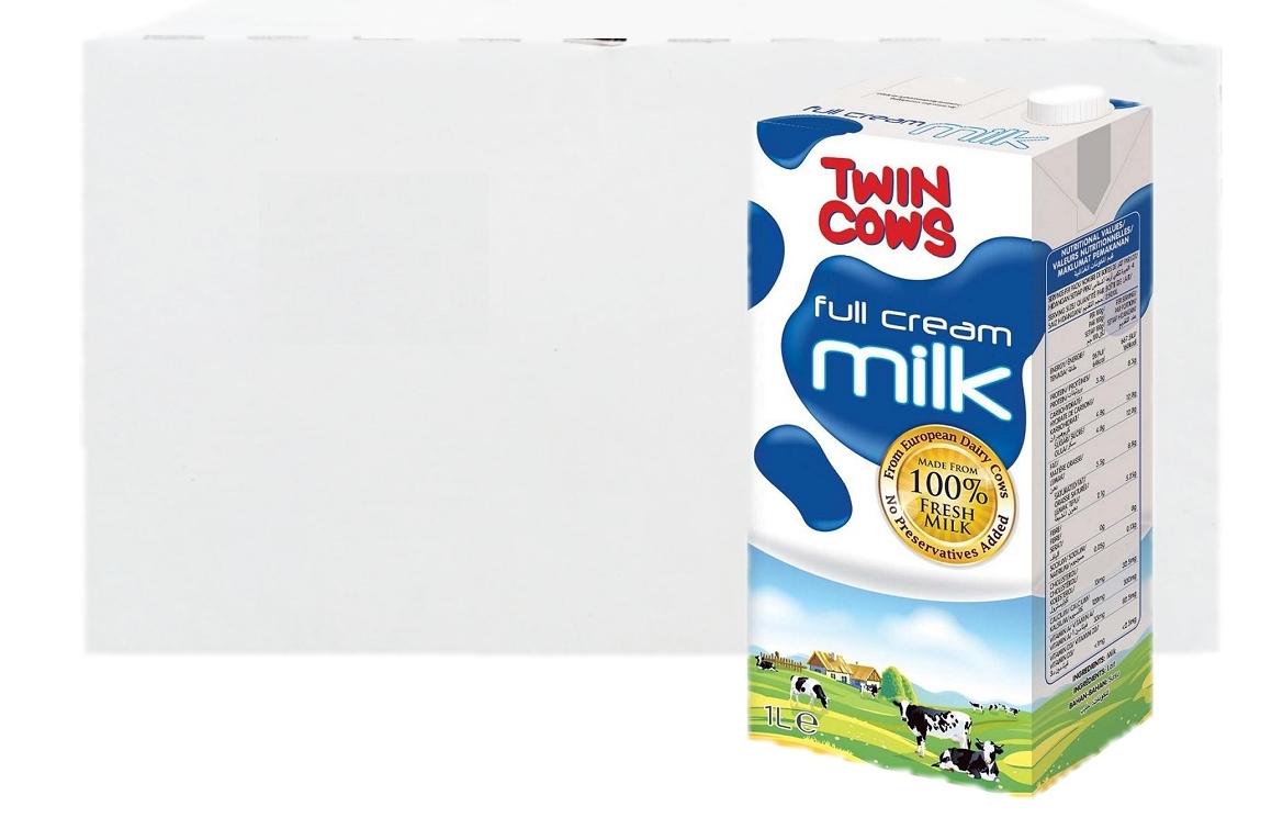 Twin Cows UHT Full Cream Milk 12 x 1L