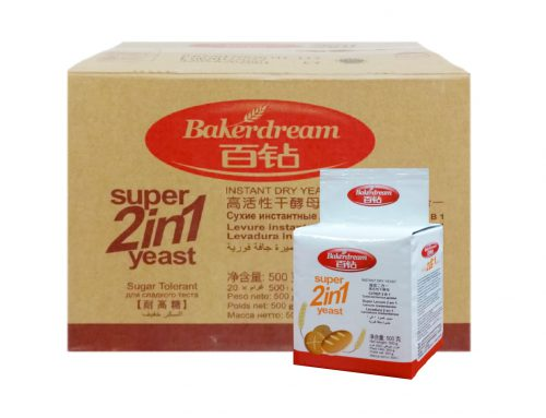 BakerDream High Sugar Instant Dry Yeast (2 in 1) 20 x 500g